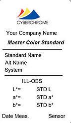 color standard label