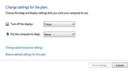 Display Settings Win7